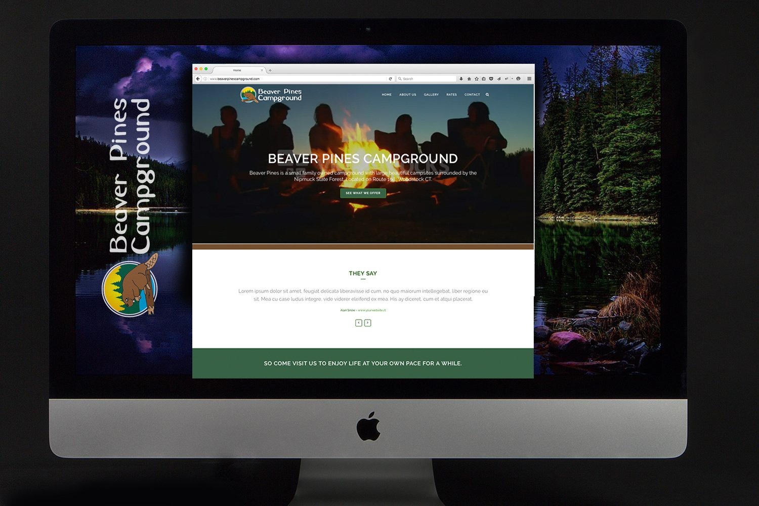 Beaver Pines Campground Website